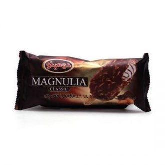 بستنی مگنولیا با روکش شکلات و بادام 85 گرمی دومینو