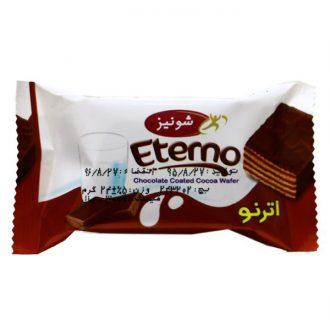 ویفر شونیز مغز کاکائو روکش شکلات اترنو