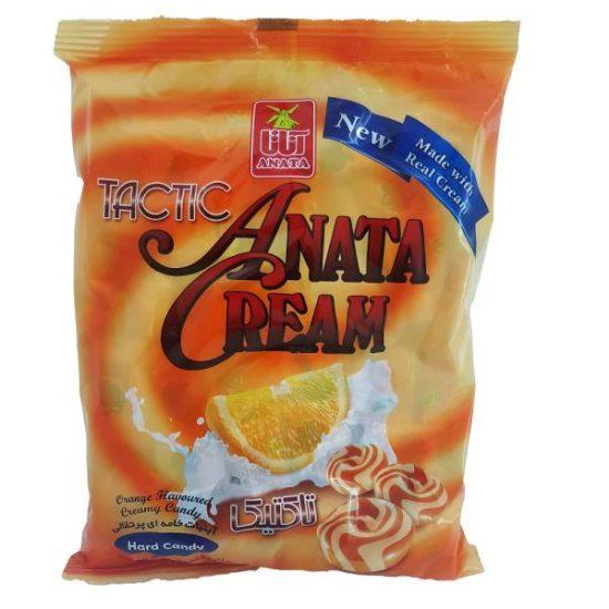 آبنبات خامه ای پرتقالی تاکتیک TACTIC آناتا بسته 120 گرمی