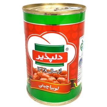 كنسرو لوبيا با سس گوجه فرنگي دلپذیر 420 گرمی