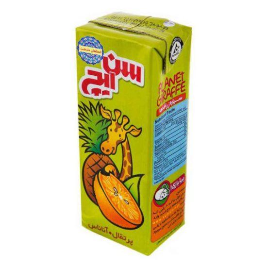 نوشیدنی پرتقال و آناناس کودک 200 میلیلیتری سنایچ