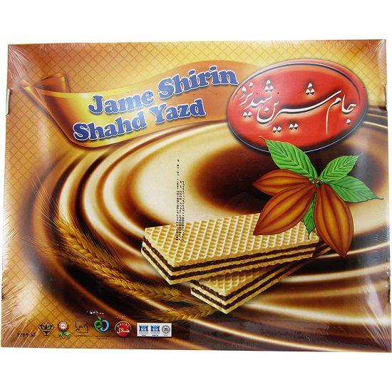 ویفر کاکائویی جام شیرین شهد یزد 850 گرمی