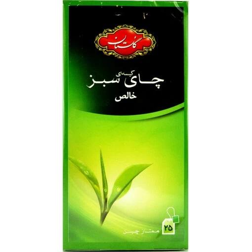 چای سبز خالص کیسه ای گلستان 25 عددی