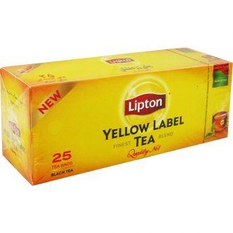چای سیاه کیسه ای زرد نشان لیپتون ۲۵ عددی