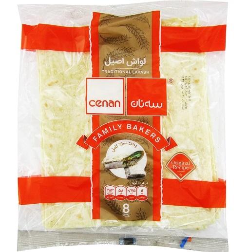 نان لواش اصیل سه نان بسته 8 عددی 300 گرمی