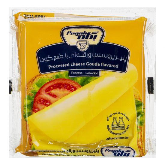 پنیر پروسس ورقه ای با طعم گودا پگاه 180 گرمی
