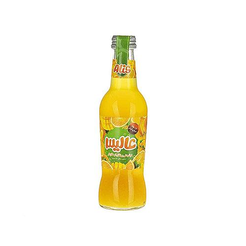 عالیس آبمیوه گازدار شیشه پرتقال انبه 250میلی لیتر